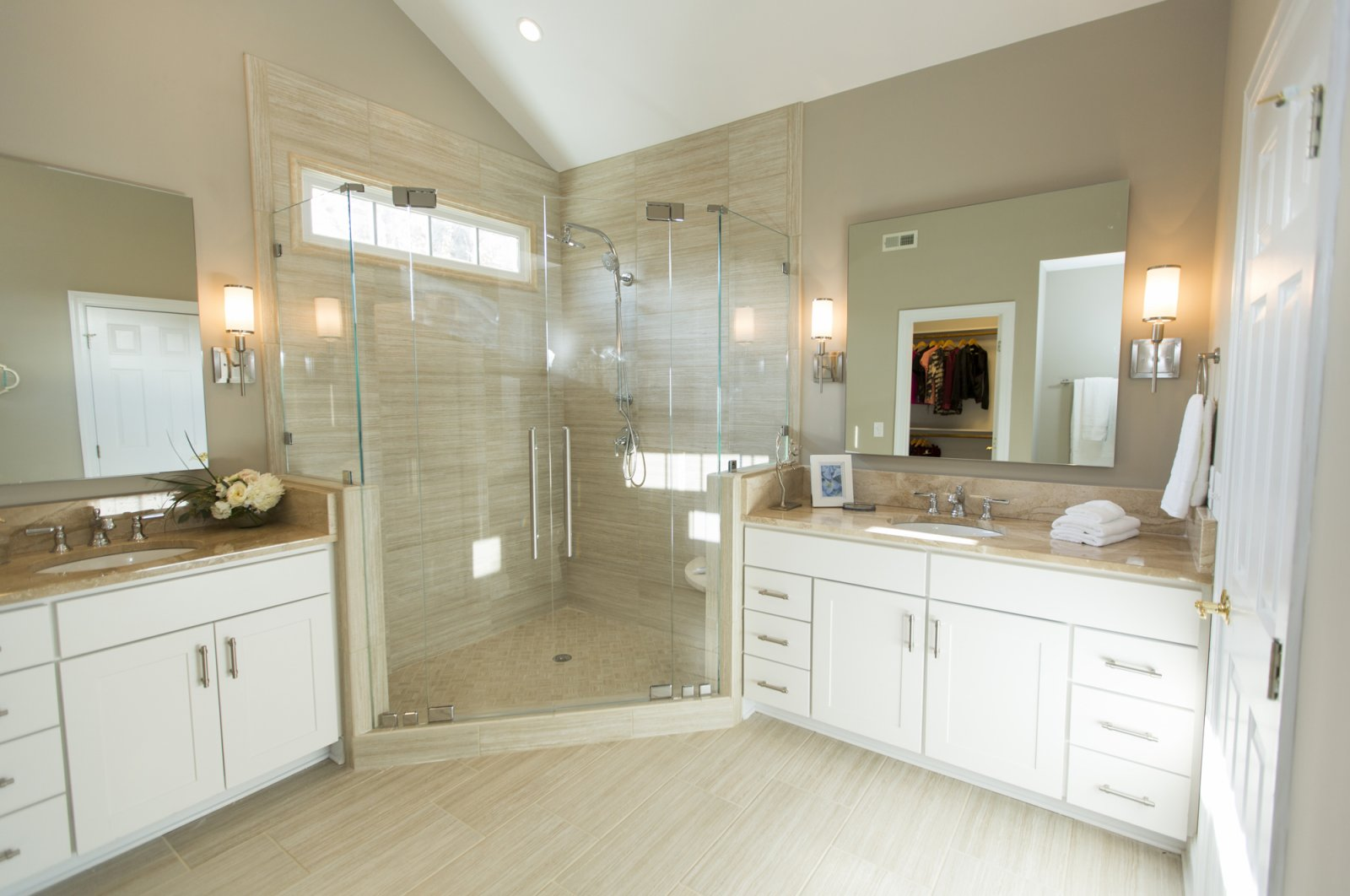 Hgtv Double Door Neo Angle Shower