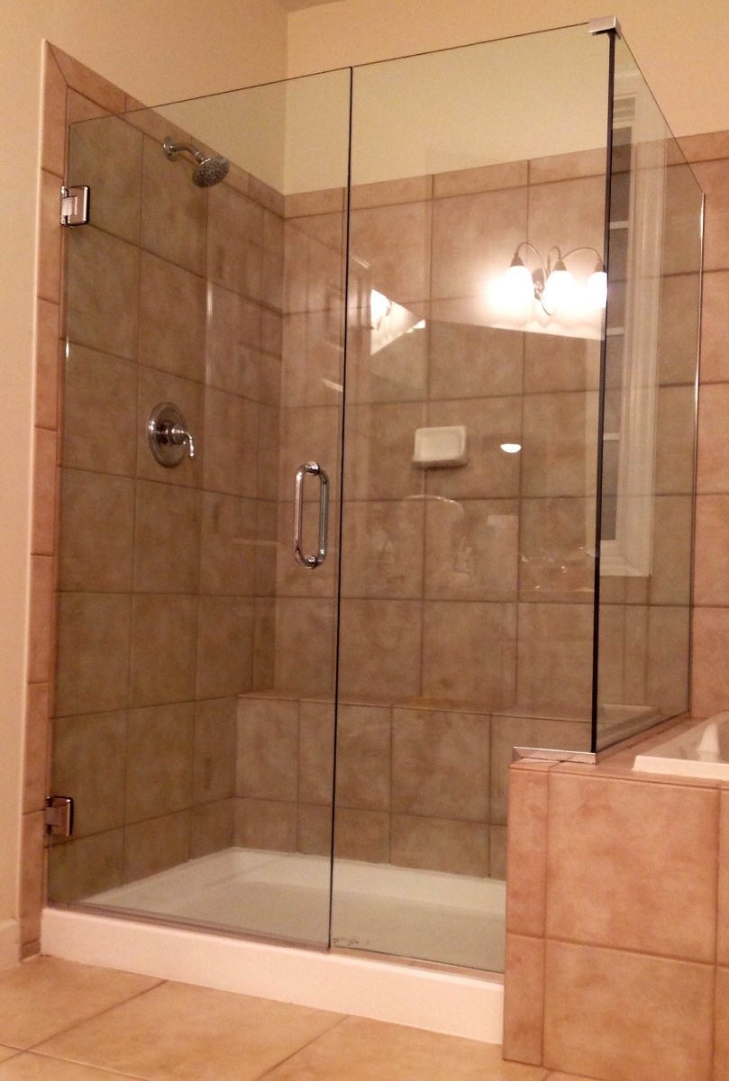 Cheap frameless shower doors cheap frameless glass for Cheap glass doors