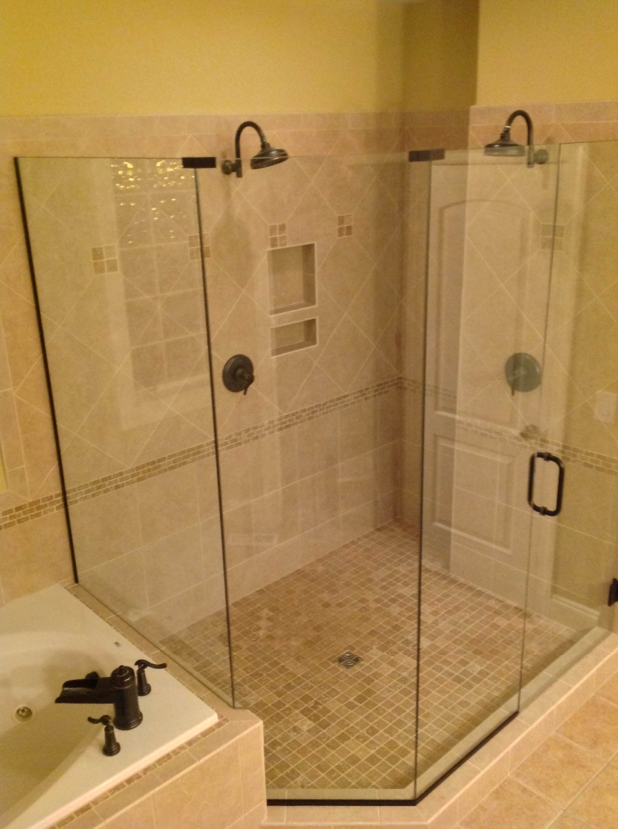 Frameless glass shower doors raleigh nc featured on for Bathroom designs glass shower enclosures