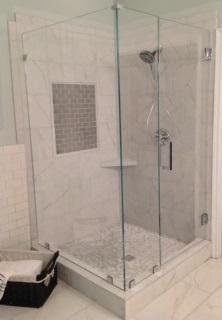 Etonnant Frameless Corner Shower Doors The