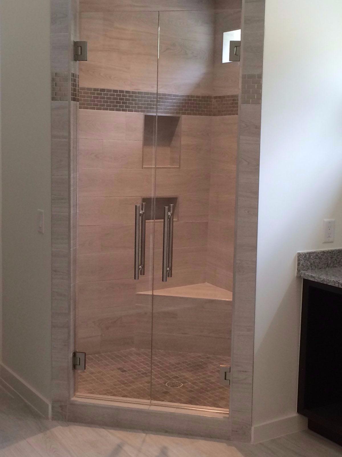 Double Door Enclosure With Low Iron Glass – Mia Shower Doors