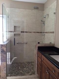 4 panel 90 degree shower