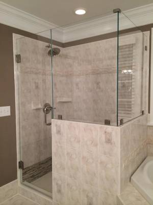 90 Degree Shower With Upgraded Glass Clamps And Low Iron Glass