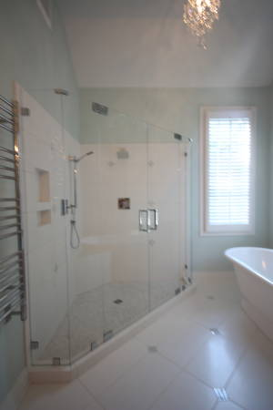 Double Door Neo Angle Shower With Low Iron Glass