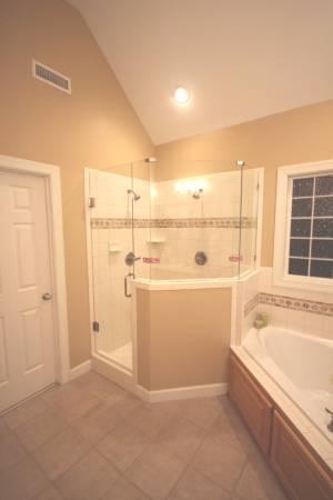 Replaced old gold framed shower