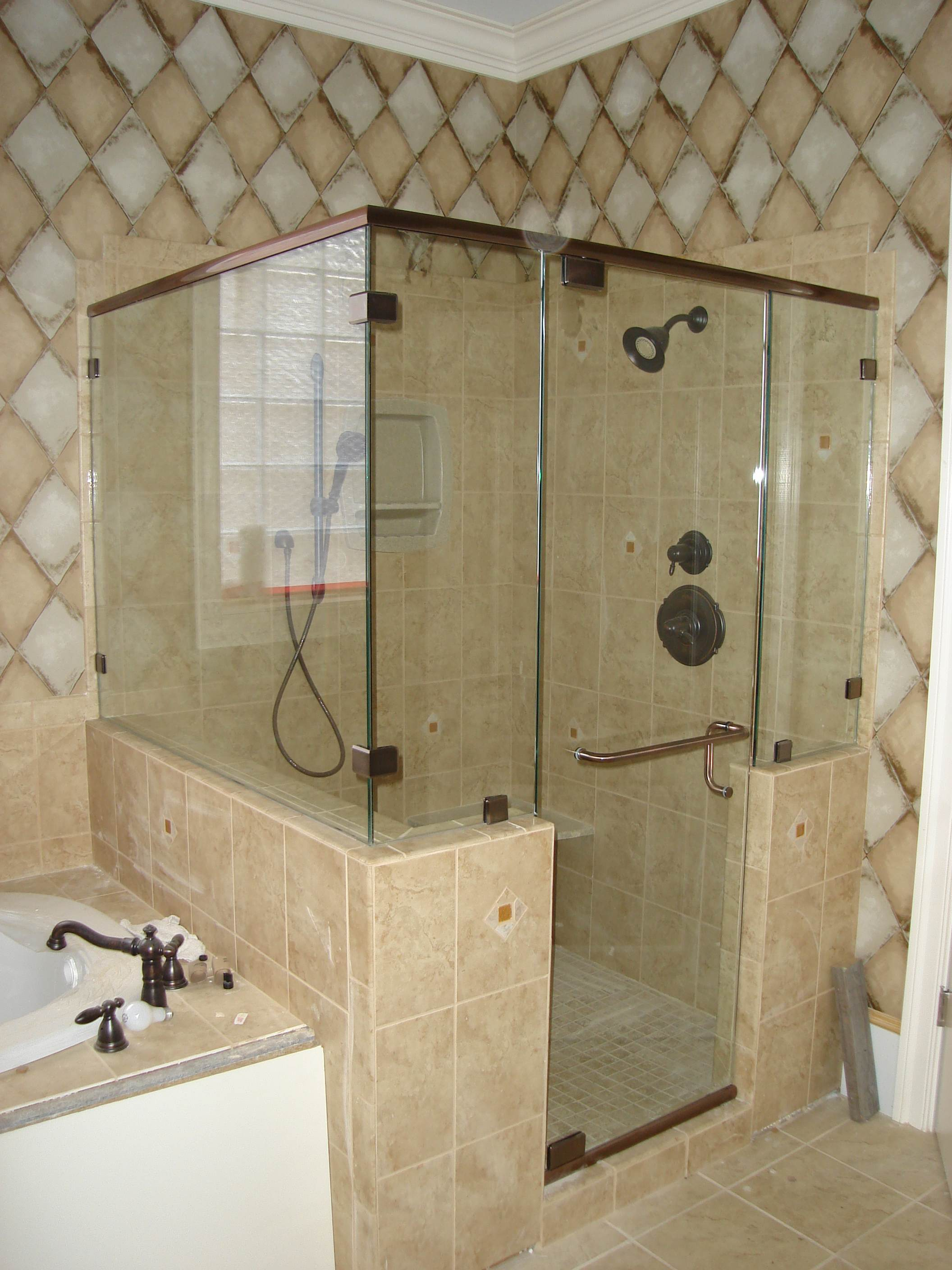 Custom Frameless Shower Enclosures in Raleigh NC – Mia Shower Doors