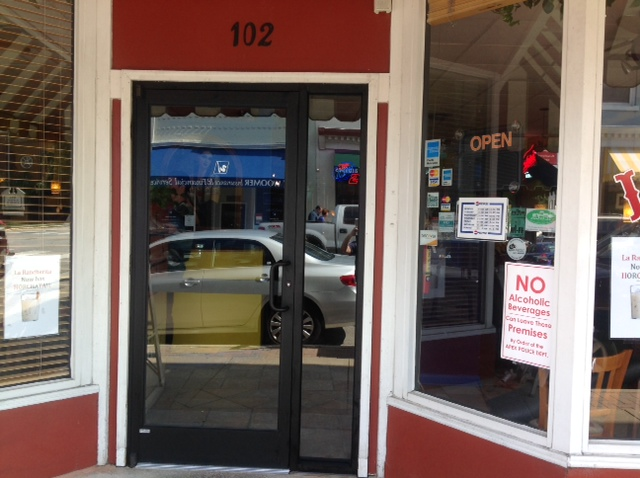 Commercial storefront glass and aluminum in raleigh for Commercial aluminum storefront door