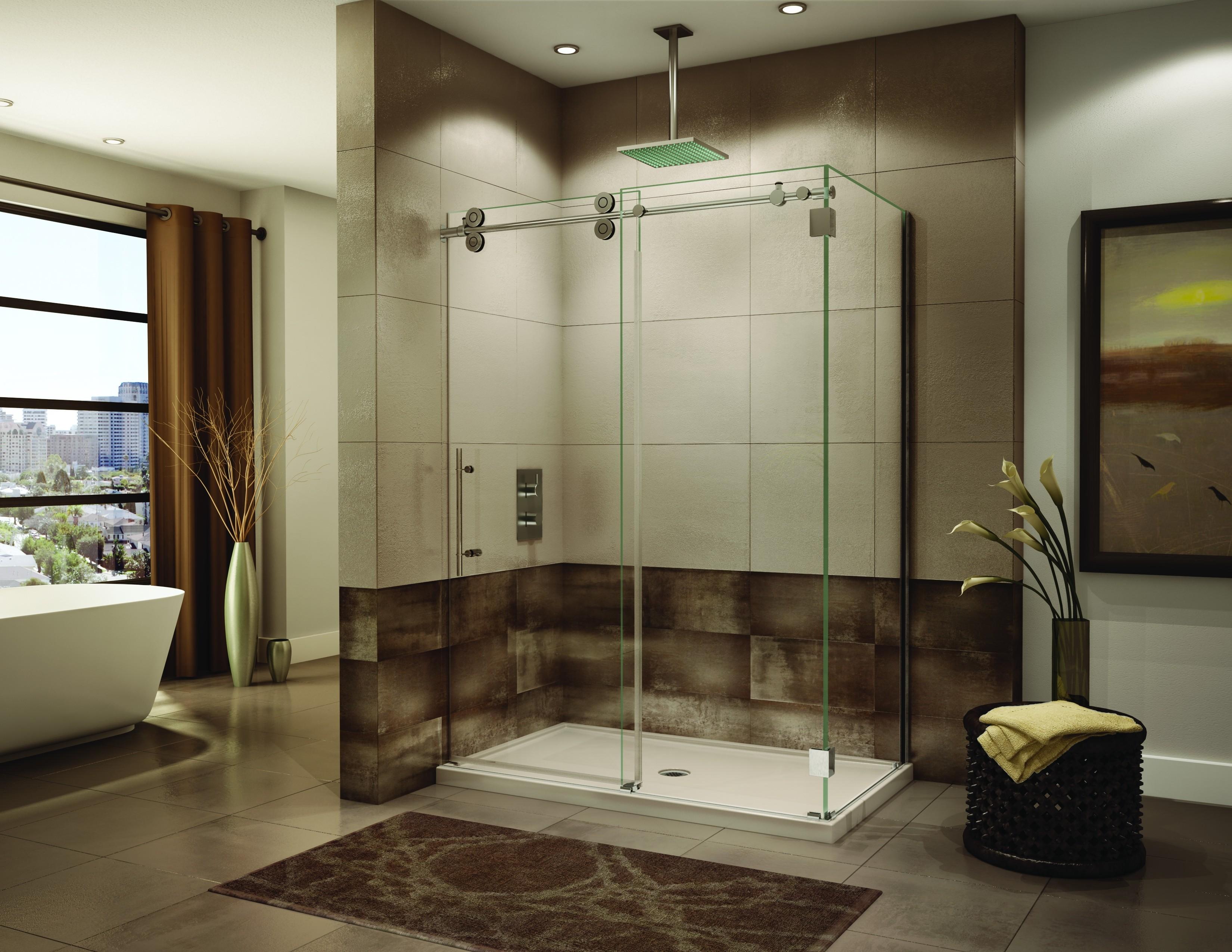Raleigh Bathroom Remodeling Featuring Frameless Serenity Sliding