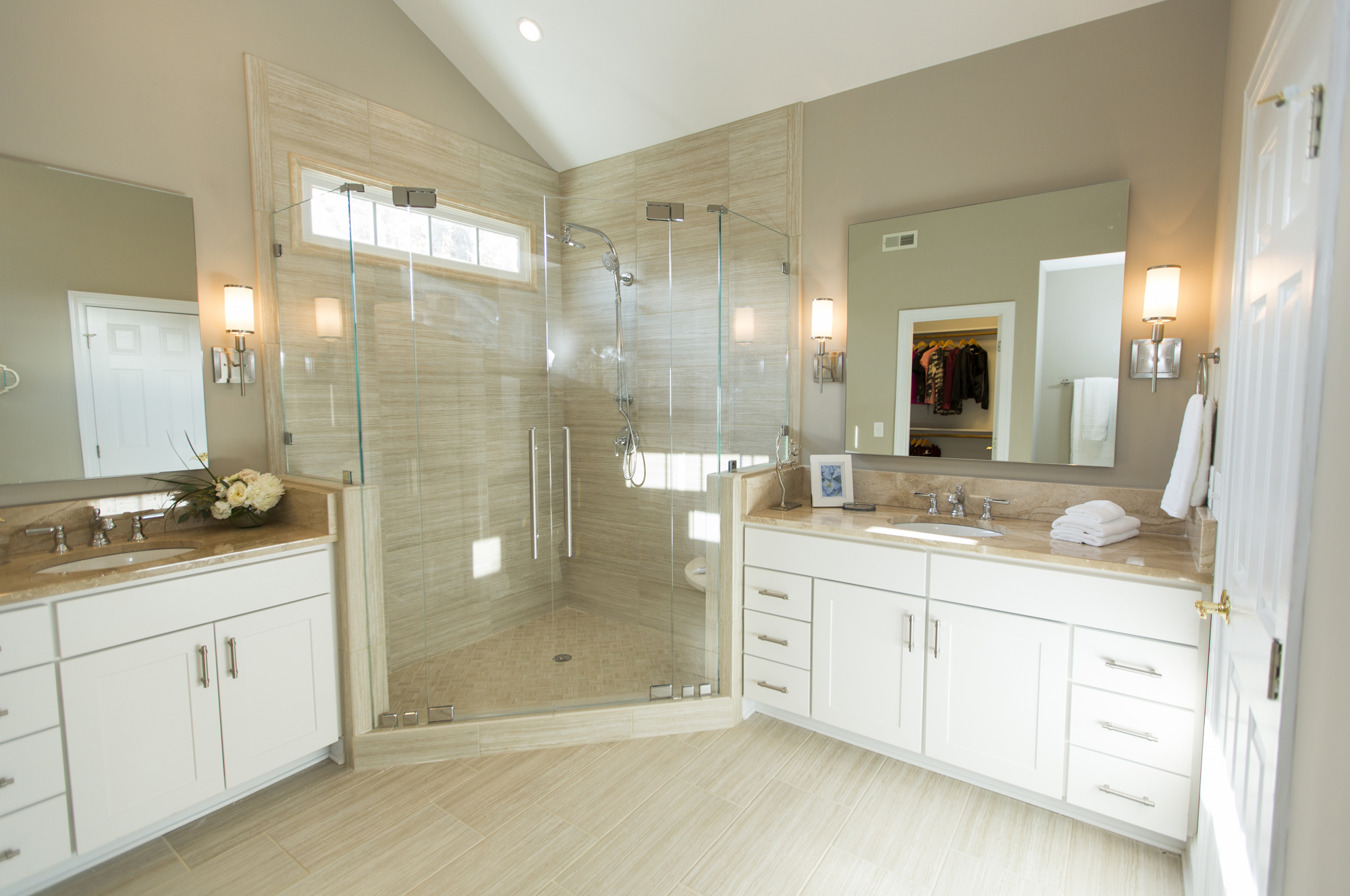 Frameless glass shower doors raleigh nc mia shower doors Hgtv bathroom remodel pictures